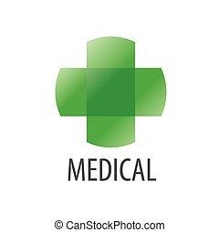 Abstract vector logo Green Cross health