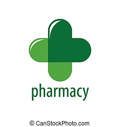 Abstract vector logo Green Cross Pharmacy