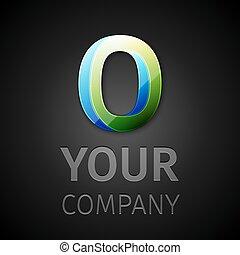 abstract vector logo letter O