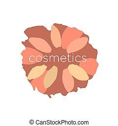 abstract vector logo of the petals in a circle