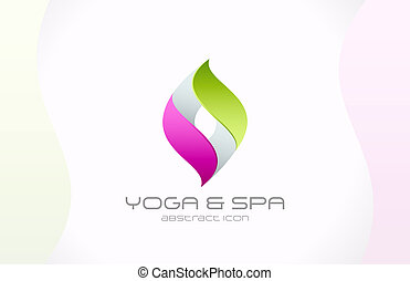 Abstract vector logo template for SPA, Yoga, Cosmetics, Medicine, Pharmacy, Beauty and Health. Creative design icon.