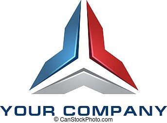logo template, stylized arrows - Abstract vector logo...