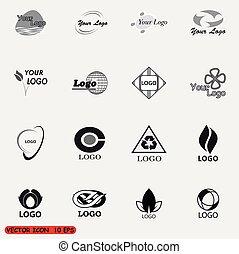 Abstract vector logos