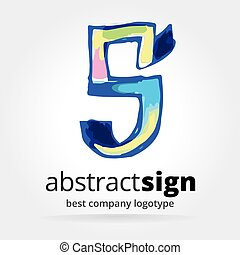 Abstract vector logotype isolated on white background