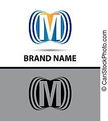 Abstract Vector M Logo Design Template