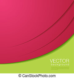 Abstract vector magenta green Background with copyspace.