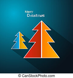 Abstract Vector Merry Christmas Background