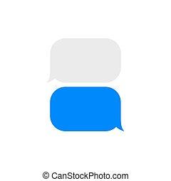 Blank Text Message Bubble Short message service ...