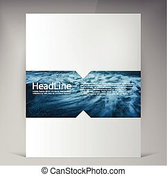 Abstract vector modern flyers brochure. Business brochure...