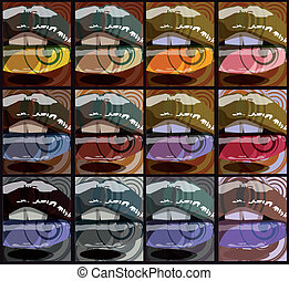 abstract, vector, mouth., illustratie