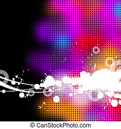 Abstract vector multicolored grunge background