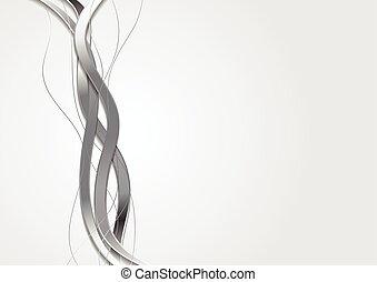 abstract, vector, ontwerp, zilver, golven