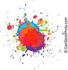 abstract vector paint  multi color  background