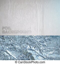 abstract vector paper background with silver crumpled foil