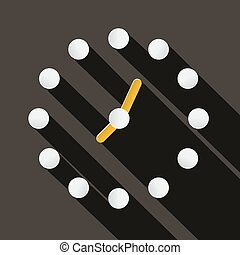Abstract Vector Paper Circle Clock Face Illustration on Dark Background