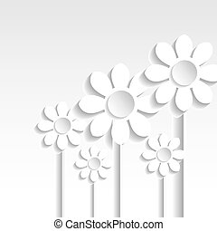 Abstract Vector paper flowers