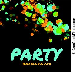 Abstract vector party background