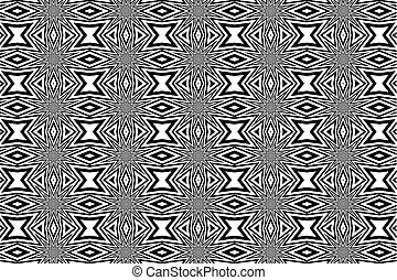 Abstract vector pattern - black and white