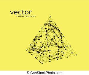 abstract, vector, piramide, illustratie