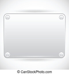 Abstract Vector Plastic Plate on White Background