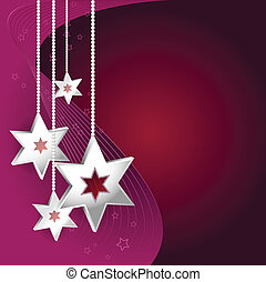 Abstract vector purple Christmas background with stars