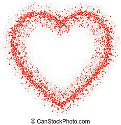 Abstract vector red heart. Isolated on white.