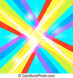 Abstract Vector Retro Colorful Background