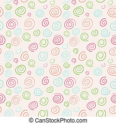 Abstract vector retro pattern - color swirls - Abstract...