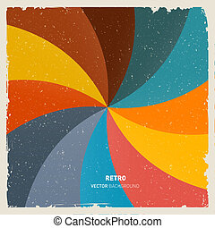Abstract Vector Retro Spiral Background