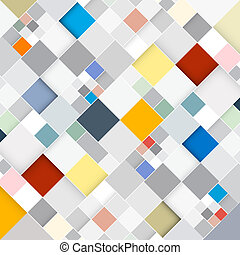 Abstract Vector Retro Square Background