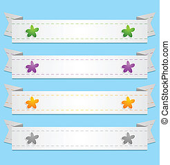 Abstract vector ribbons