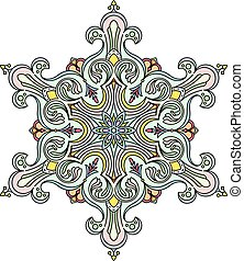 Abstract vector round lace design -