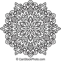 Abstract vector round lace design - mandala, decorative...