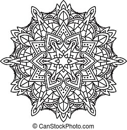 Abstract vector round lace design - mandala, decorative...