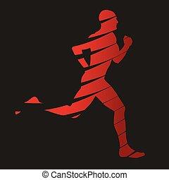Abstract vector runner