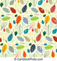Abstract Vector Seamless Pattern - Autumn Leaves