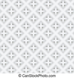 Abstract vector seamless pattern with gradient crosses