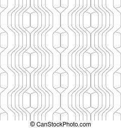 Abstract vector seamless pattern with lines. Background in high tech style.
