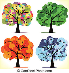 Abstract vector seasonal trees