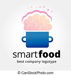 Abstract vector smart food logotype concept isolated on...