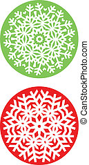 abstract, vector, snowflakes