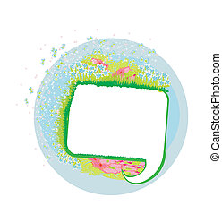 Abstract vector speech bubble with space for text