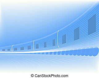 Abstract vector speed train.