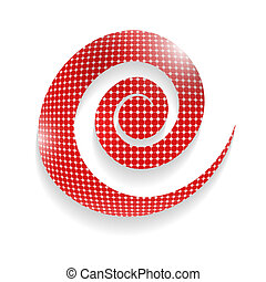 abstract vector spiral with grid