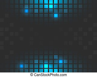 Abstract vector square blue mosaic background with place for your content.