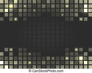 Abstract vector square golden mosaic background with place for your content.