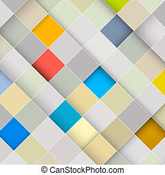 Abstract Vector Square Retro Background