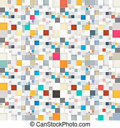 Abstract Vector Squares Seamless Background