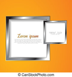 Abstract vector squares with silver frame - Abstract square...