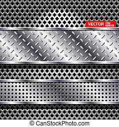 Abstract vector steel background. ?hrome design texture.